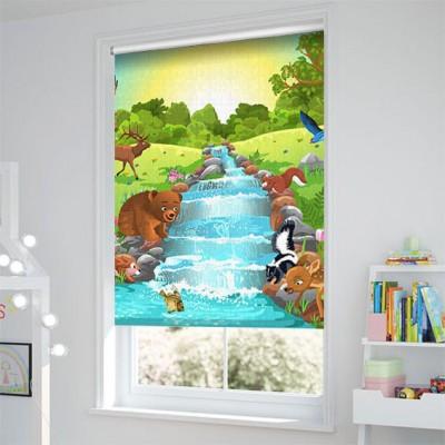 Ρόλερ - Ρολοκουρτίνα Σχέδιο Παιδικό - Εφηβικό192 Ζωάκια στο δάσος