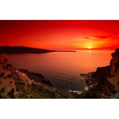 Ρόλερ Μερικής Συσκότισης GI0002 Ελληνικά Νησιά-Ηλιοβασίλεμα στην Σαντορίνη