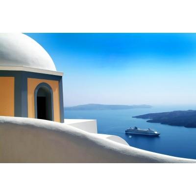Ρόλερ Μερικής Συσκότισης GI0003 Ελληνικά Νησιά-Με θέα την Σαντορίνη