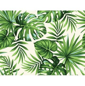 Ταπετσαρία Φύση - Λουλούδια - Floral 170 Τρόπικα φύλλα