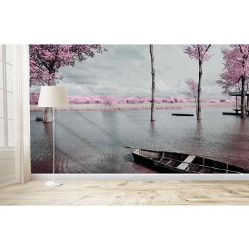 Ταπετσαρία Φύση - Λουλούδια - Floral 167 Ρομαντική λίμνη