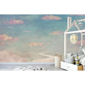 Ταπετσαρία Παιδικό - Εφηβικό 305 Ουρανός με πολύχρωμα συννεφάκια