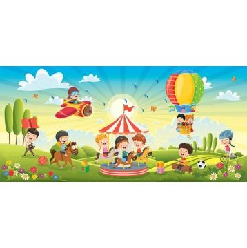 Ταπετσαρία Παιδικό - Εφηβικό 306 Λούνα πάρκ
