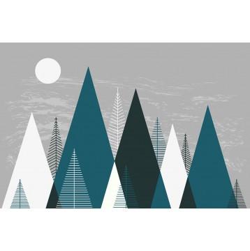 Ταπετσαρία Παιδικό - Εφηβικό 303 Σκανδιναβικά βουνά