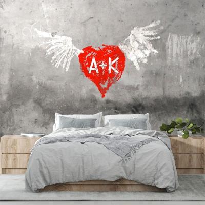 Ταπετσαρία τοίχου Απομιμήσεις Υλικών - Γκράφιτι 117 Φτερωτός Έρωτας