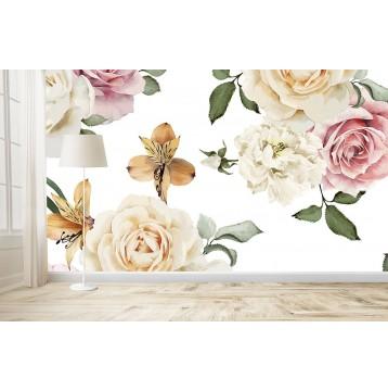 Ταπετσαρία Φύση - Λουλούδια - Floral 168 Πολύχρωμα λουλούδια