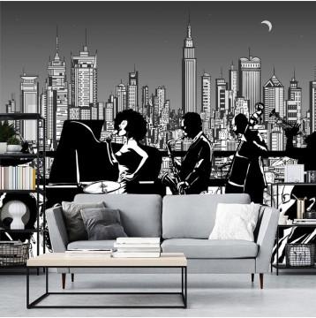 Ταπετσαρία τοίχου Vintage - Μουσική 115  Jazz Ορχήστρα