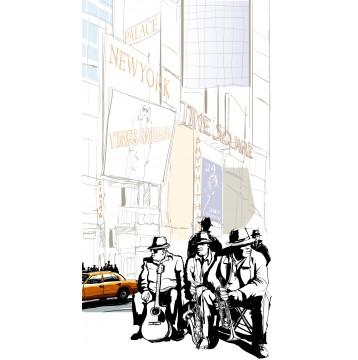 Ταπετσαρία τοίχου Vintage - Μουσική 113 Jazz στη Νέα Υόρκη